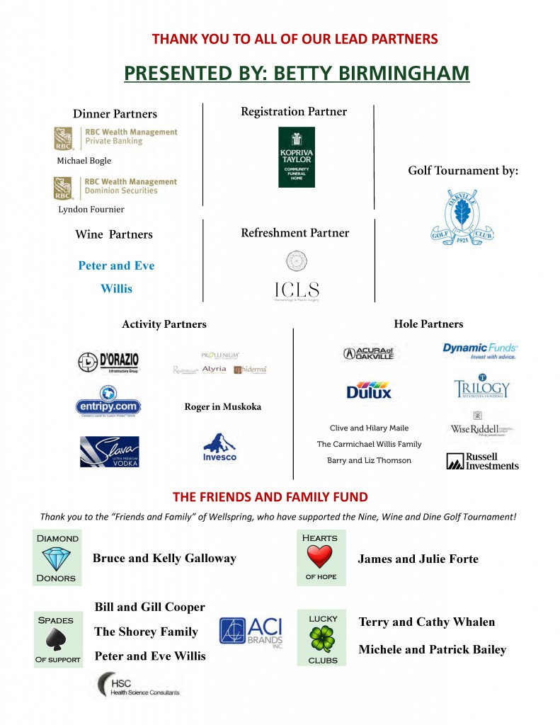 Golf Sponsors