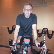 Man on stationary bike