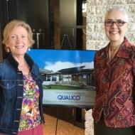 Wellspring Edmonton's new executive director Michele Zielinski (left) and outgoing interim executive director Donna Gannon (right)