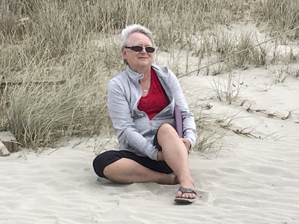 Picture of Elaine Merrick on the Beach